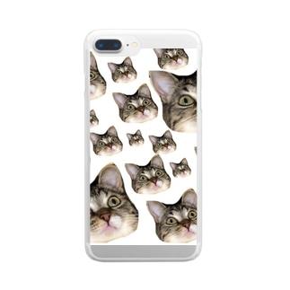おはぎがいっぱい Clear smartphone cases