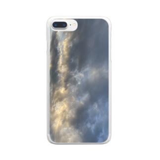 なみ、そら。 Clear smartphone cases