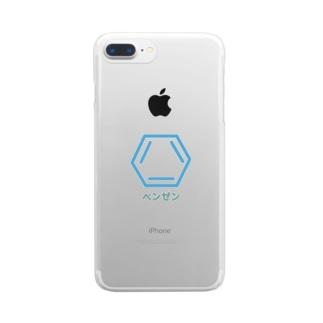 理系 ベンゼン Clear smartphone cases