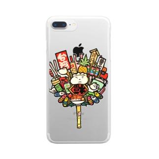 点心熊手 Clear smartphone cases