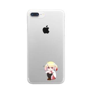 似斗ちゃん Clear smartphone cases