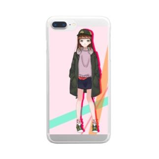 気分屋のようきゃになりたいかばー Clear smartphone cases