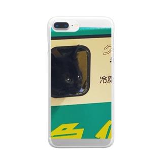 クロコネコ宅急便 Clear smartphone cases