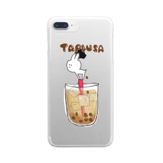 たぴうさ Clear smartphone cases