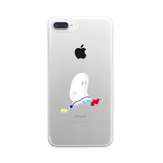 DAY OFFおばけちゃん[color] Clear smartphone cases