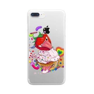 キラーカップケーキ Clear smartphone cases