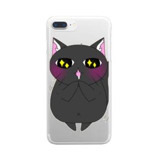 猫川さん Clear smartphone cases
