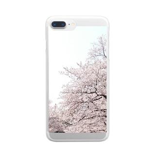 桜 Clear smartphone cases