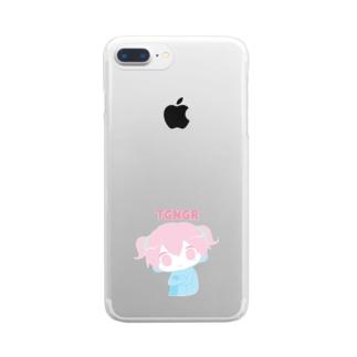 やわらかちごなぐり Clear smartphone cases