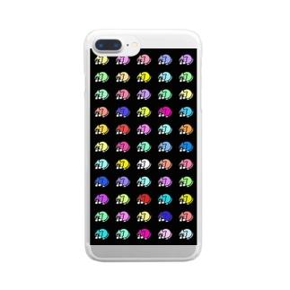 NECO.カラフル2 Clear smartphone cases