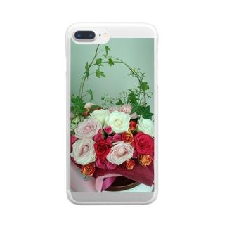 バラのアレンジメント Clear smartphone cases