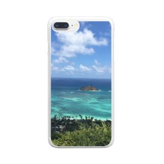 ハワイ カイルアの絶景 Clear smartphone cases