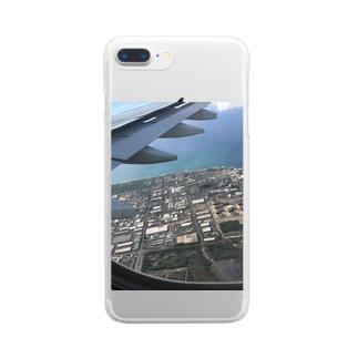 NATSUKO-SHOPの飛行機の窓から Clear smartphone cases
