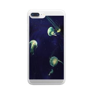 くらげ Clear smartphone cases