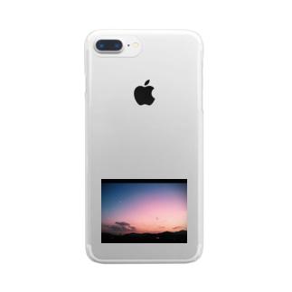 月が綺麗ですね Clear smartphone cases