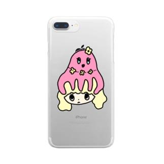 たこあたまちゃん Clear smartphone cases