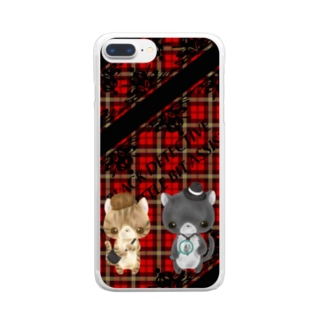 黒猫探偵 Clear smartphone cases