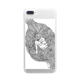 スマートフォンケース〜繭 Clear smartphone cases
