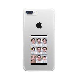歯磨き中の三浦 Clear smartphone cases