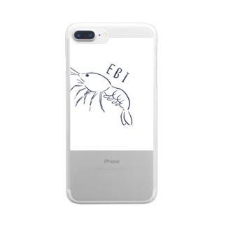 エビ、えび、海老、shrimp Clear smartphone cases