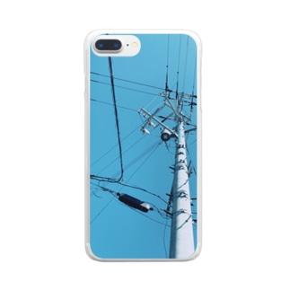 そらでんでん。 Clear smartphone cases