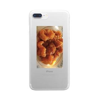 エビチリ Clear smartphone cases