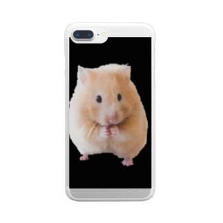 ハムスター Clear smartphone cases