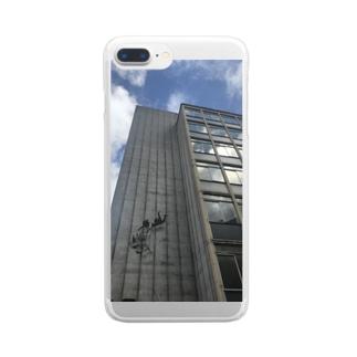 バンクシー ストリートアート Clear smartphone cases