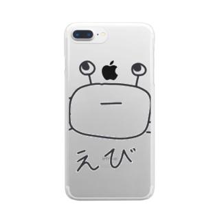 えびの絵 Clear smartphone cases