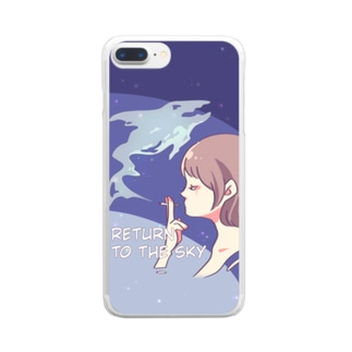 Return to the sky Clear smartphone cases
