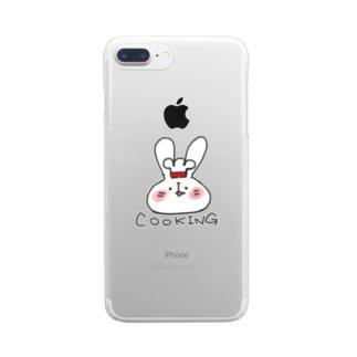 なつみ料理を始める。 Clear smartphone cases