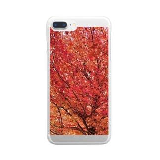 秋 Clear smartphone cases