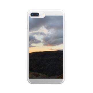 積丹の朝 Clear smartphone cases