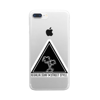 REGALIA triangle LOGO Clear smartphone cases
