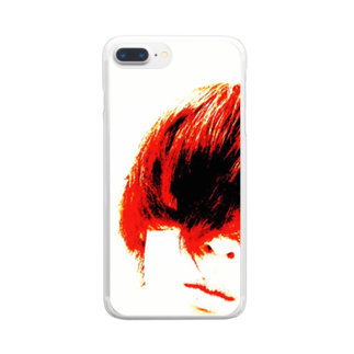 RyoY_ArtWorks_Galleryの赤髪の青年 Clear smartphone cases