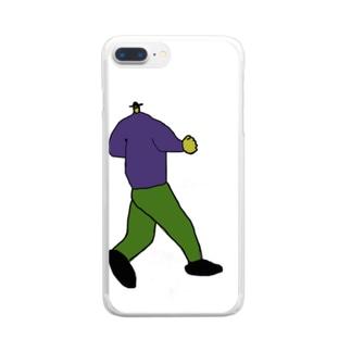 ウォーキングしている人 Clear smartphone cases