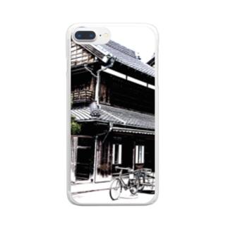憧れの古民家 Clear smartphone cases