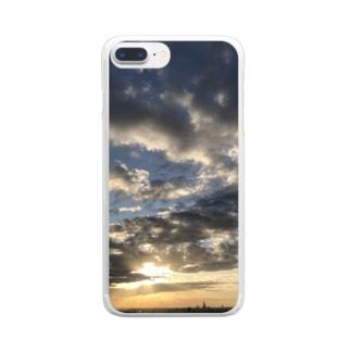 ある霜月の夕暮れ Clear smartphone cases