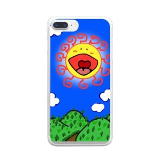 サンサン 字無しバージョン Clear smartphone cases
