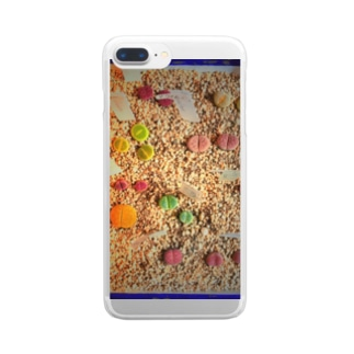 リトープス。サボテン。 Clear smartphone cases