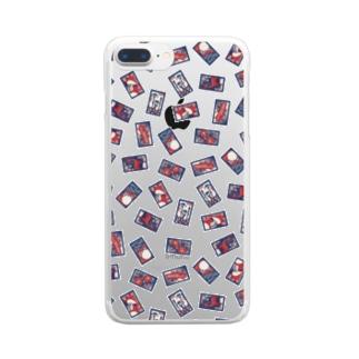 【日本レトロ#30】花札 Clear smartphone cases