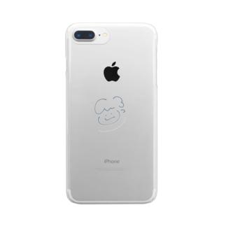 むぐくん Clear smartphone cases