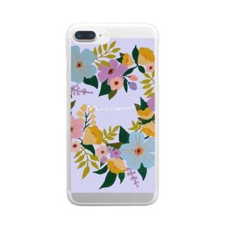 ハートのリース Clear smartphone cases