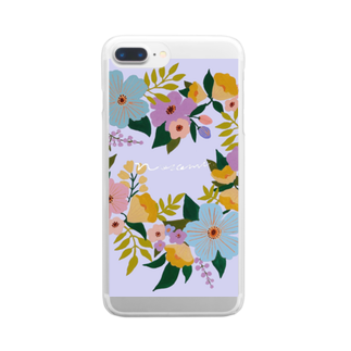 nozomimmのハートのリース Clear smartphone cases