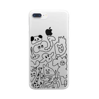 動物を模した者達 Clear smartphone cases