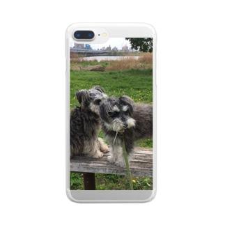 トランプくんとオリバーくん Clear smartphone cases