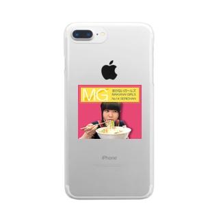 まかないガールズNo.14 Clear smartphone cases