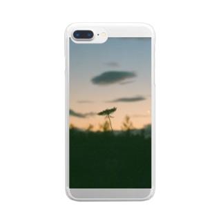 夕暮れのおさんぽ Clear smartphone cases