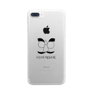 はなめがね 鼻メガネ  Clear smartphone cases