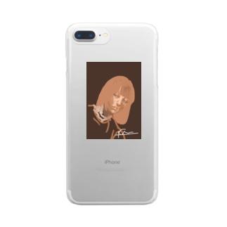 中性的な少年2 Clear smartphone cases